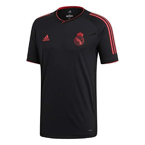 adidas Men's Real Madrid Ultimate Training Jersey (Medium) (Black/Real Coral) CW8682
