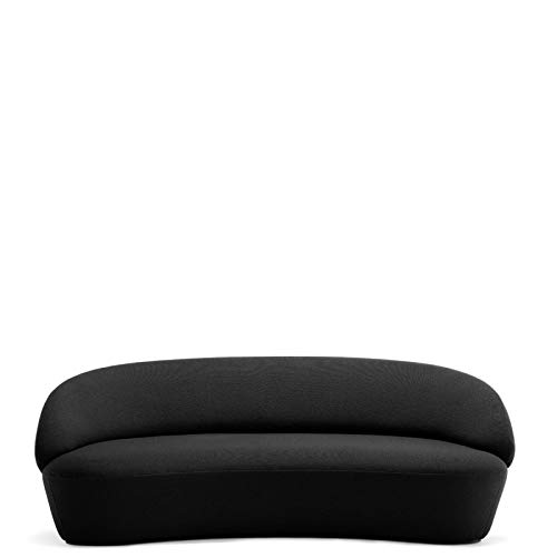 Emko NAÏVE - canapé 2m14 en Tissu Laine - Couleurs - Noir