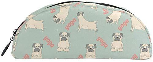 Coin Purse Pug Meditation Yoga Pencil Case Bag Bag Stationery Pencil Case Case Cosmetic Bag Teen Girl Boy Child