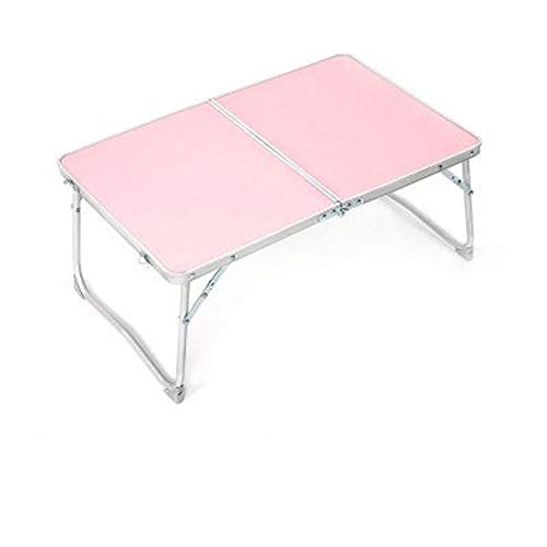 Folding Computer Desk on Bed Mini Cute and Multifunctional Lazy Learning Laptop Desk, Folding Standing Laptop Desk,Multi-Function Portable Laptop Bed Tray Table,Small Dining Table (Color : Pink)