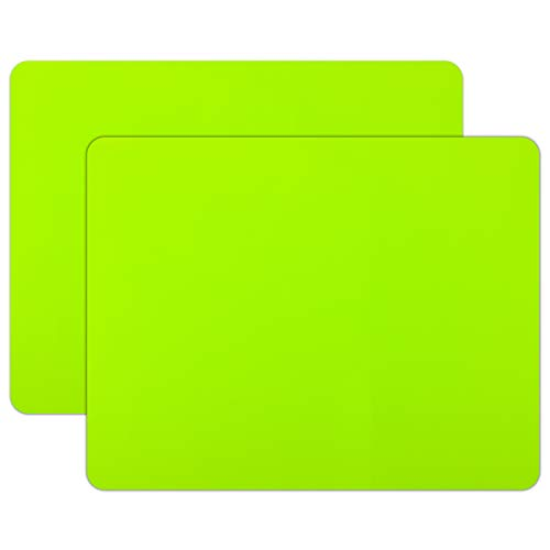 """23.6"""" by 19.7"""" Silicone Sheet for Crafts, Gartful Extra Large Silicone Pad Desk Work Mat for Resin Molds, Paints, Worktop Protector, Table Place Mat, Nonskid Non-stick, Green, Set of 2"""