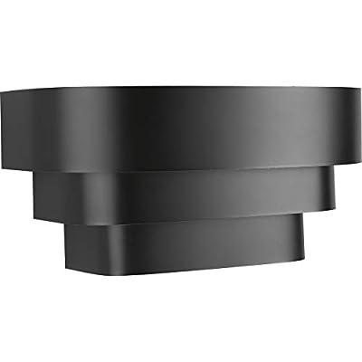 Progress Lighting P7103-31 Black One-Light Wall Sconce, 14-Inch Width X 7-Inch Height,