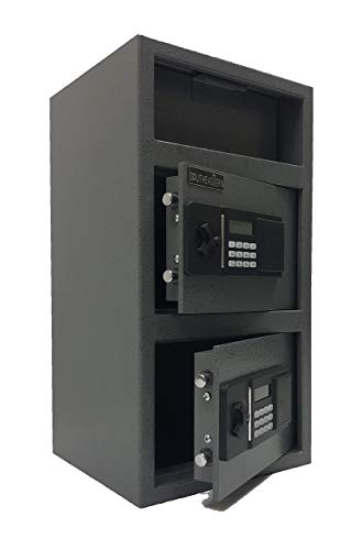 SOUTHEASTERN F2714EE Double Door Money Drop Depository Safe with Quick Access Electronic Lock & Back up Key