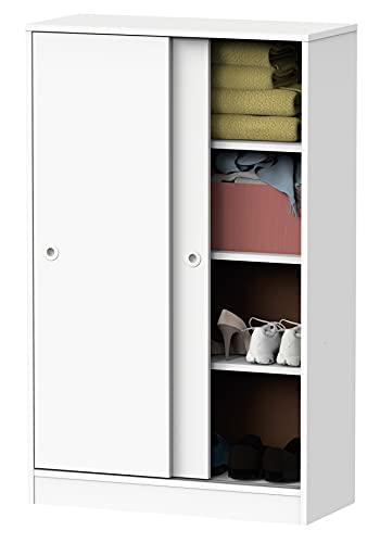 Armario bajo Auxiliar Tibet Color Blanco Atlas 2 Puertas 2 estantes almacenaje...