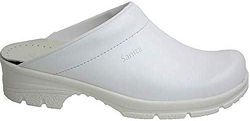 Sanita 821837 Modelo 1010 Duty Griptec - Zueco de goma (tacón abierto, 37 cm), Farbe Weiß