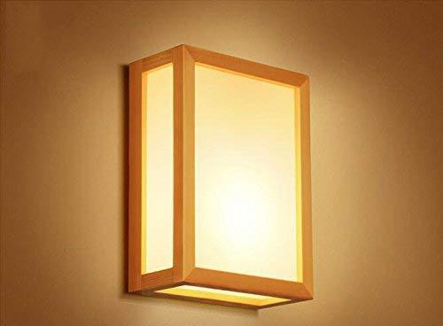 Einfache Wand-Lampe Nachttischlampe Kreative japanische Massivholz-Schlafzimmer-Wand-Lampe