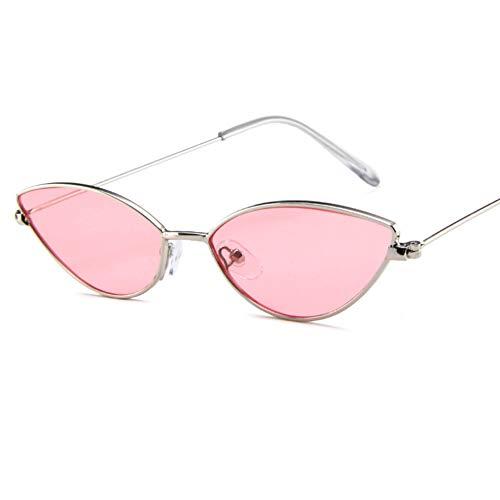 MZF Las mujeres de la moda clsico ojo de gato gafas de sol pequeas retro vintage sombras gafas retro pequeo arco templo diseo rosa