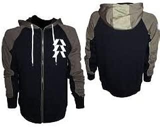 Destiny Hunter Hooded zip black-olive (large)