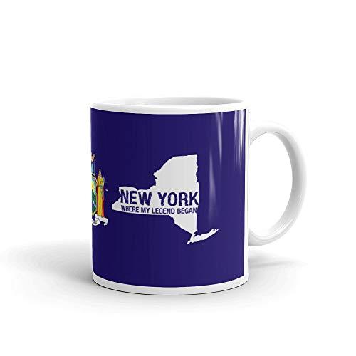 New York Empire State Where My Legend Began NYC Big Apple Kaffeetasse