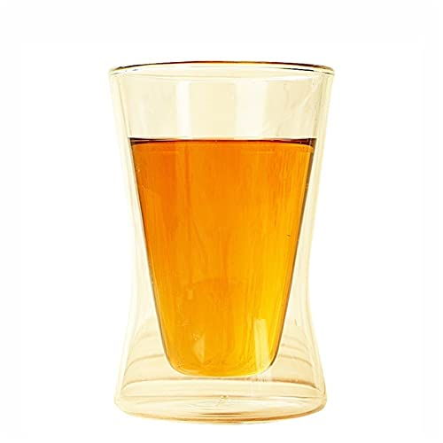 WxberG Double Wall Glass Tumbler - 10-Ounce, All Glass Reusable Insulated Tea/Coffee Mug, Hand Blown Glass mug (Size : 300ml)