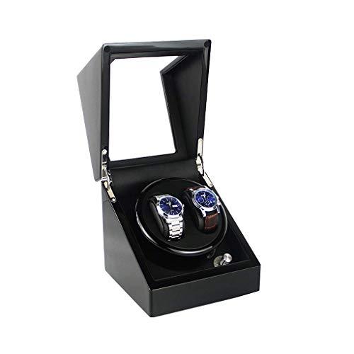 ZHANGYH Agitador de reloj mecánico automático solo enrollador de reloj, motor silencioso con batería, caja de almacenamiento de relojes de madera Shell caja de visualización negra