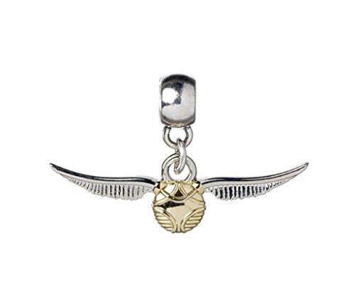 Plata Oficial Hogwarts Quidditch Plateado Oro Snitch Deslizante Pulsera del Encanto