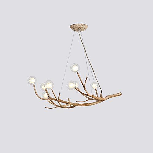 LED kroonluchter massief houten kroonluchter moderne verlichting creatieve tak hanglamp individuele hanglamp plafondlamp