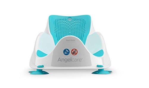 Angelcare - Fit - Transat de Bain pour Bébé - Ergonomique et Sécurisant - 0 à 6 Mois - Bleu