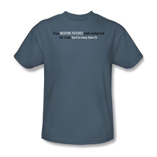 Nikotinpflaster - das T-Shirt In Slate, Medium, Slate