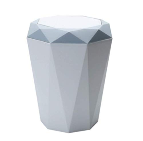 ZKCXIM Plastic Trash can Swing Cover Trash can Household Kitchen Trash can Rolling Cover Trash can Trash Basket Debris on The Table Home Office