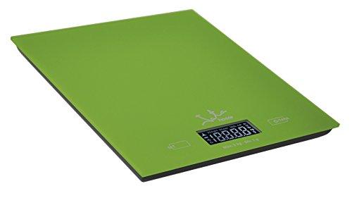 Jata Hogar 729V - Balanza electrónica de alta precisión, capacidad 5kg, color cristal verde