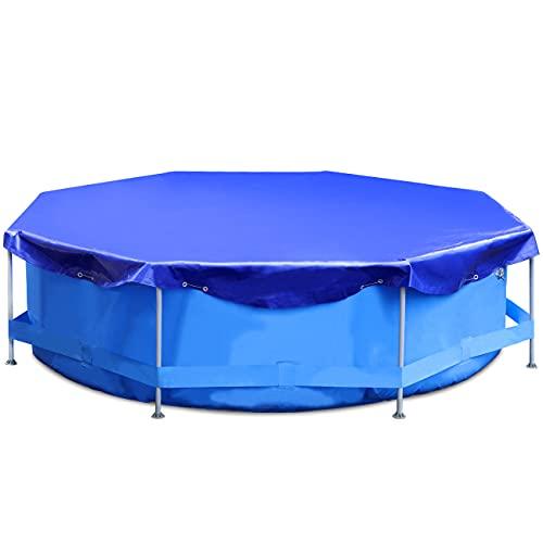 Sekey Cobertor para Piscina Redonda Ø 366 cm, 200 g/m² PE Lona de Protección Impermeable para Piscina Desmontable, Azul