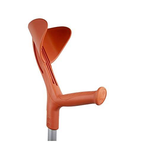 Queraltó Muleta bastón inglés de Aluminio Regulable en Altura Color Naranja, 1 Unidad