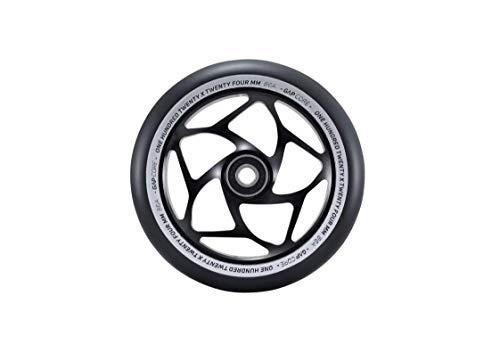 Blunt Stunt - Rueda para patinete (120 mm - 24 mm de ancho), color negro