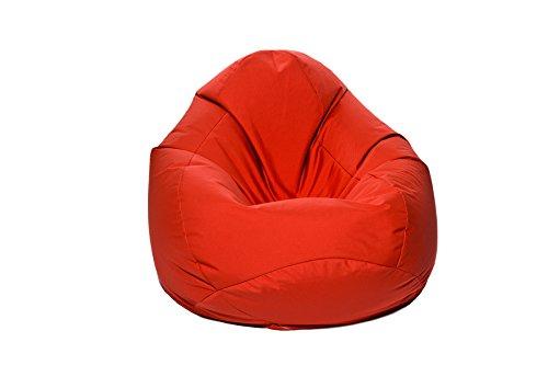 Jumbo Bag 29151-50 Scuba Pouf Poire Polyester Rouge 80 x 80 x 130 cm Taille XXL