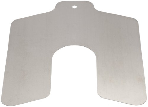 Stainless Steel Slotted Shim, Unpolished (Mill) Finish, 0.025' Thickness, 2' Width, 2' Length (Pack of 10)
