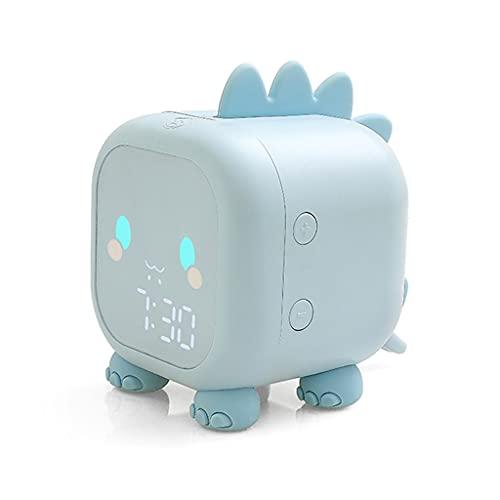 KLHDGFD Reloj despertador digital con diseño de dinosaurio, para mesita de noche, para dormir, para despertar, luz nocturna (color : B, tamaño: talla única)