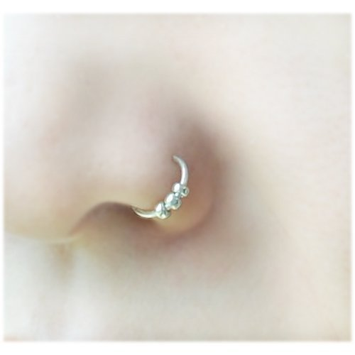 Amazon Com 0 8 20 Gauge Nose Ring Fake Nose Ring Nose Hoop With