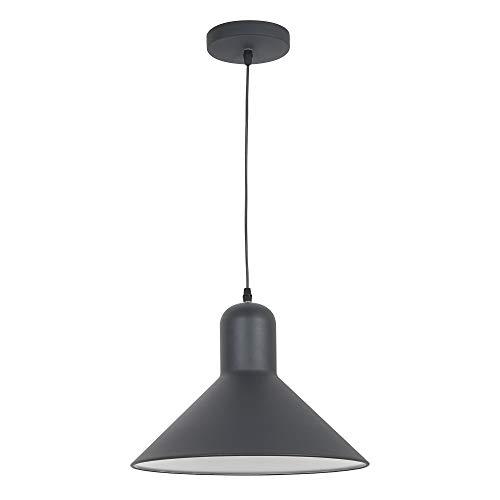 HOMCOM Hängeleuchte Deckenlampe Deckenstrahler Industrie Vintage E27 40 W Küche Bar Wohnzimmer Schlafzimmer Metall schwarz ∅34,5 x H28 cm (ohne Birne)