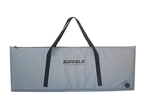 Buffalo Gear Insulated Fish Cooler Bag 48x17 Inch,Monster Leakproof Fish Kill Bag,Large Portable Waterproof Fish Bag Gray,Keep ice-Cold More Than 24 Hours