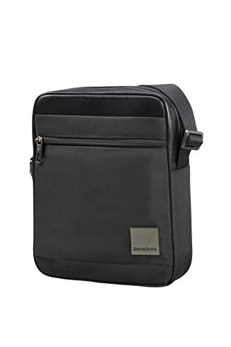 """Samsonite Hip-Square - Tablet Cross-over M 7.9"""" Borsa Messenger, 25 cm, 3.5 liters, Nero (Black)"""