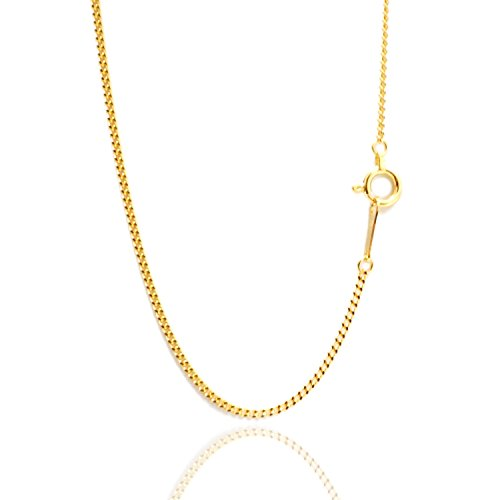 喜平 ネックレス チェーン 45cm 1mm K18 YG 喜平ネックレス 喜平チェーン K18 ゴールド 18金 ネックレス安心の日本製 K18YG