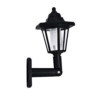 loinrodi LED Outdoor Wall Light, Solar Hanging Wall Lantern Built-in Sensitive Light Sensor, Solar Garden Lights Pathway Lights Led Light Fixture with Wall Mount Kit for Patio Lawn Walkway