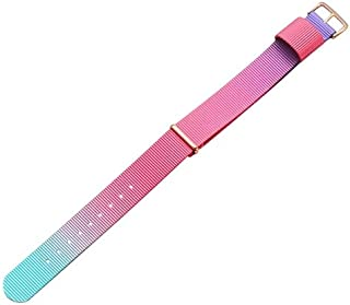 Beautiful Watches, Simple Fashion Watches Band Gold Buckle Nylon Watch Strap, Width: 18mm