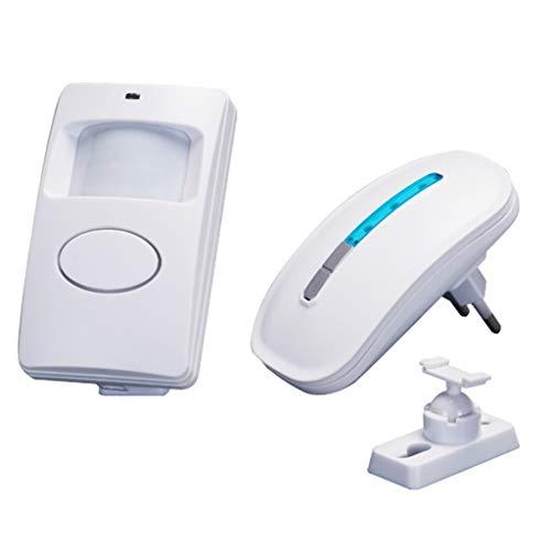 LTJX Alarma del Sensor De Movimiento, Timbre Inalámbrico para Puerta/Entrada de La Puerta/Casa y Tienda/Buzón, Kit de Sistema de Alarma de Seguridad con 1 Sensor Y 1 Receptor