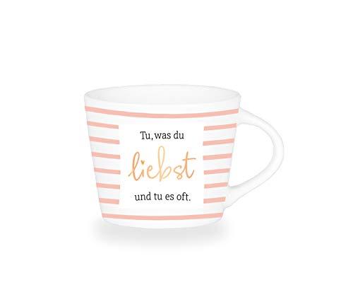 Grafik-Werkstatt Premium-Tasse, Tu was du liebst, Espresso Tasse, Goldveredlung