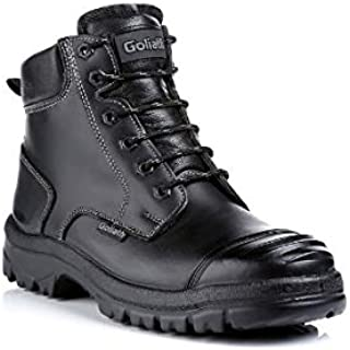 GOLIATH SDR10CSI S3 BLACK DUAL DENSITY RUBBER SAFETY BOOTS FOR MENS