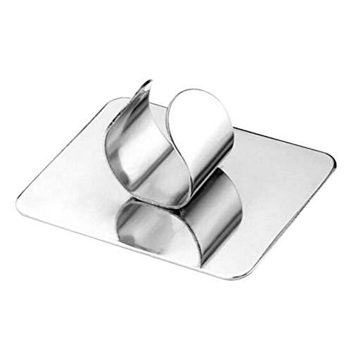 LQKYWNA Nail Art Paleta de maquillaje portátil espejo tinte caja de acero inoxidable cuadrado anillo 4,3 x 3,2 cm 1,0 mm de grosor durable y resistente herramienta de arte cuidado personal