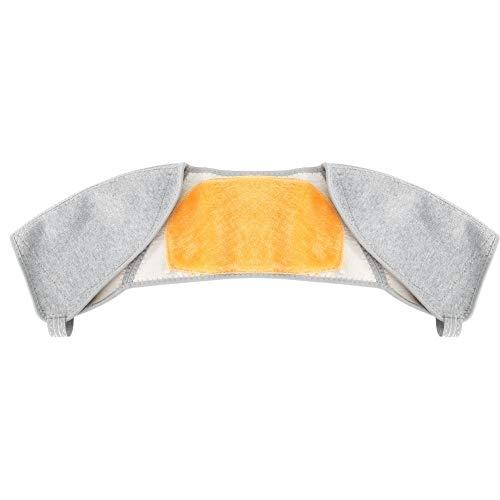 BLLBOO Doppelter Schulterstütze Bambus-Kohlenstoff-Gold-Fleece-Winter-warmes Schmerzlinderung Schutzbatterie L