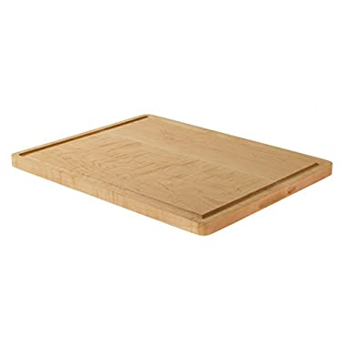 Large Maple Cutting Board with Juice Groove for Chopping (12 x15 ) Serving and Carving. Reversible with Drip Groove for Food Prep, Meat, Fruit and Vegetables. Chopping Block for your CounterTop.