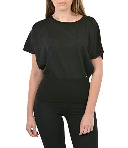 Yes Zee Camiseta de mujer M212-IM00 Primavera/Verano Negro S