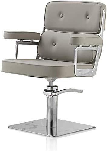 Las sillas de oficina Barbero telesilla Hair Salon sillas giratorias silla de la computadora de escritorio Silla Silla de peluquería altura ajustable de piel fácil de limpiar Silla de oficina giratori