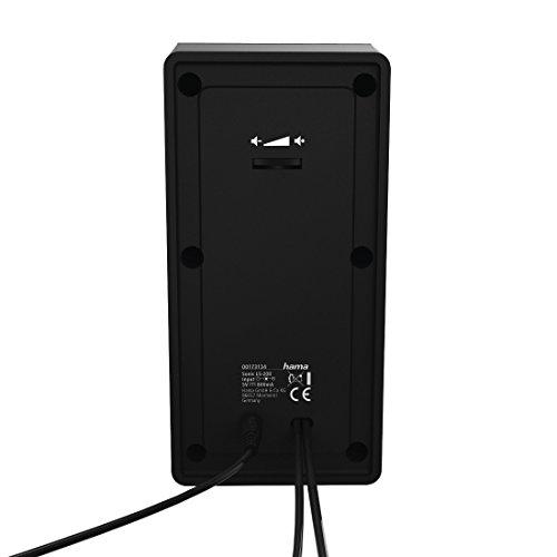 Hama Sonic LS-208 - Lautsprecher (2.0 Kanäle, 8 W, 100-20000 Hz, 4 Ohm, Schwarz)