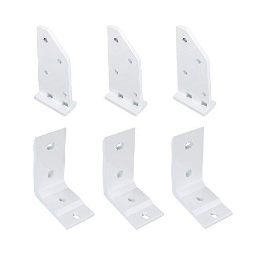 paramondo Dachsparrenhalter-Set mit Deckenwinkel für Kassettenmarkise Line   weiß, 3er Set