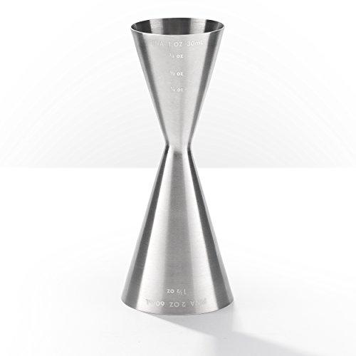 Piña Barware Slim Stainless Steel Commercial 2oz / 1oz Slim Style Measuring Jigger Bar Tool