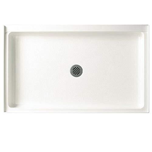 Swanstone FF03454MD.010 Veritek Center Drain Shower Base, 54-in L X 34-in H X 5.5-in H, White