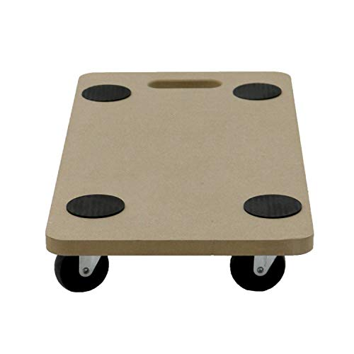 Unibos 200kg Heavy Duty Anti Slip Hand Dolly Trolley Cart Furniture Moving Wooden Platform Mover