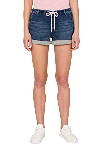 edc by ESPRIT Damen 059Cc1C005 Shorts, Blau (Blue Dark Wash 901) W27(Herstellergröße: 27)