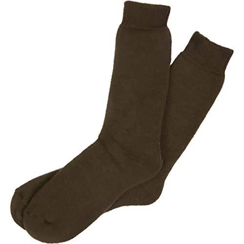 RJM Chaussettes longues chaudes d'hiver de jardinage et randonnée thermacrylique pour bottes en caoutchouc pour hommes 40-45 (Olive)