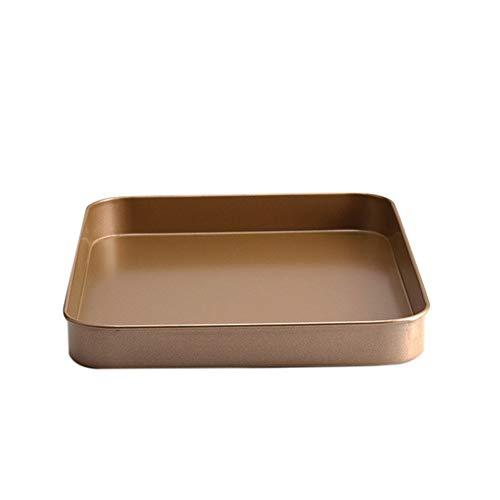 Backblech, aus rostfreiem Stahl, haltbar, ungiftig, leicht zu reinigen, perfekt zum Backen von Keksen, Zimtschnecken, Brötchen, Maisbrot usw, Gold